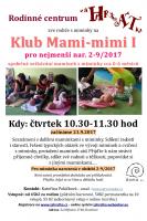 Klub mami-mimi pro miminka nar. 2-9/2017