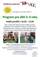 Program pro děti 2-3 roky s rodiči