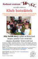 Klub batolátek - program pro děti 1-2 roky